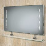 Hib Aztec LED Bathroom Mirror with Shaver Socket and Glass Shelf